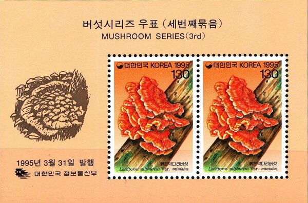 Korea (South) 1995 Mushrooms (3rd Issue) j