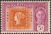 Mauritius 1948 Centenary of the 1st Mauritius Postage Stamp a
