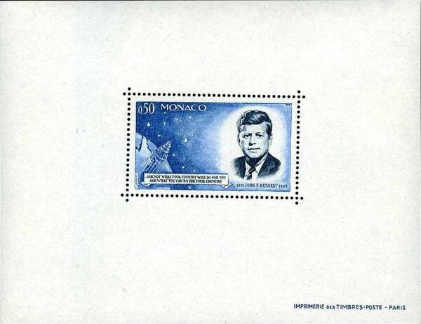 Monaco 1964 Pres. John F. Kennedy and Mercury Capsule f