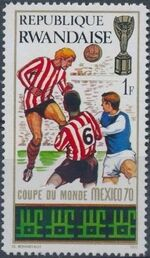 Rwanda 1970 Football World Cup - Mexico d