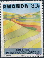 Rwanda 1986 Soil Erosion Prevention (Surcharged and Overprinted) f