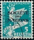 Switzerland 1932 Official Stamps for the International Labor Bureau a