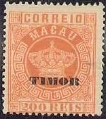 """Timor 1884 Stamps of Macau Overprinted """"TIMOR"""" i"""