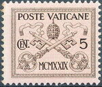Vatican City 1929 Conciliation Issue a