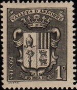 Andorra-French 1937 Coat of arms of Andorra a