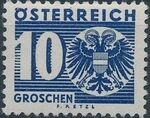 Austria 1935 Coat of Arms and Digit e