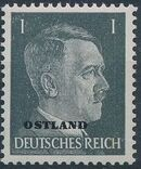 German Occupation-Russia Ostland 1941 Stamps of German Reich Overprinted in Black a