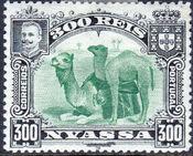 Nyassa Company 1901 D. Carlos I (Giraffe and Camels) m
