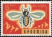 Romania 1963 Bees & Silk Worms d