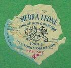 Sierra Leone 1964 New York World's Fair - Regular Stamps c