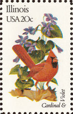 United States of America 1982 State birds and flowers l