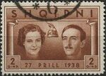 Albania 1938 Wedding of King Zog I b