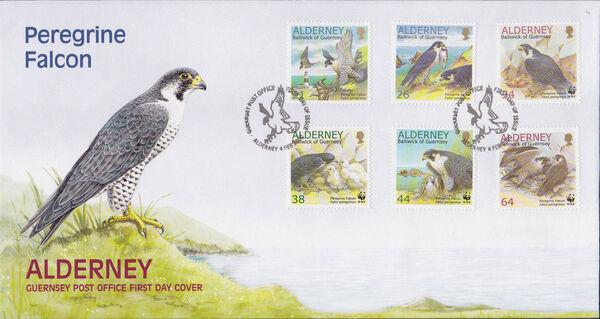 Alderney 2000 WWF Peregrine Falcon FDCa