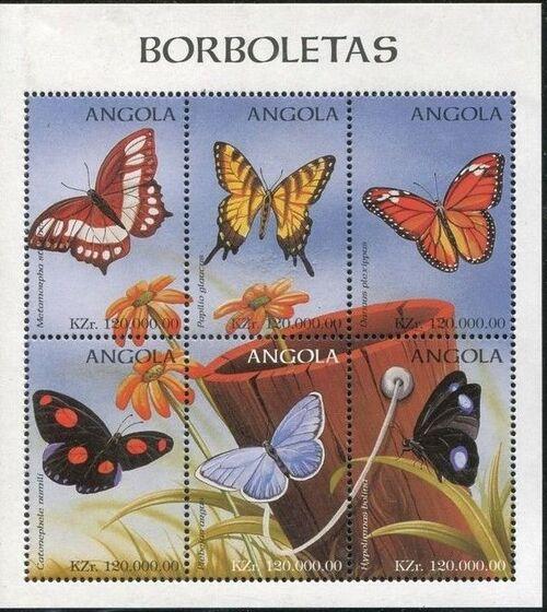 Angola 1998 Butterflies (2nd Group) SSb