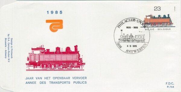 Belgium 1985 Public Transportation Year FDCC1