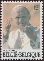 Belgium 1985 Visit of Pope John Paul II a