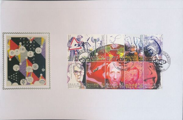 Belgium 2001 The 20th Century III - Science and Technology FDCa