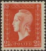 France 1945 Marianne de Dulac (2nd Issue) k