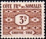 French Somali Coast 1947 Postage Due Stamps f