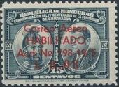 Honduras 1945 Air Post Stamps of 1937-1939 Surcharged c