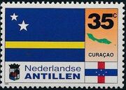 Netherlands Antilles 1995 Flags and Coats of Arms of Island Territories b