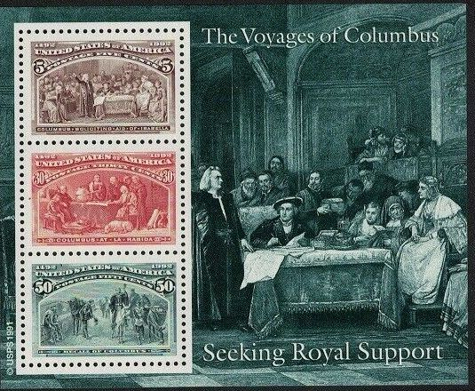 United States of America 1992 Voyages of Columbus SSc