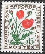Andorra-French 1964 Flowers - 1st Group (Postage Due Stamps) a