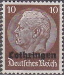 German Occupation-Lothringen 1940 Stamps of Germany (1933-1936) Overprinted in Black f