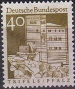 Germany, Federal Republic 1967 Building Structures from Twelve Centuries (2nd Group) d