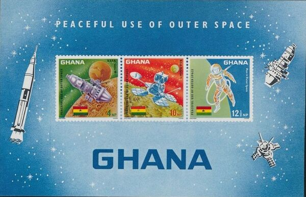 Ghana 1967 Achievements in Space h