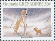 Grenada Grenadines 1988 The Disney Animal Stories in Postage Stamps 1e
