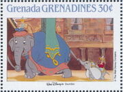 Grenada Grenadines 1988 The Disney Animal Stories in Postage Stamps 4c