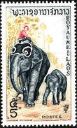Laos 1958 Elephants e