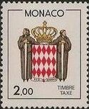 Monaco 1986 National Coat of Arms - Postage Due Stamps (2nd Group) c