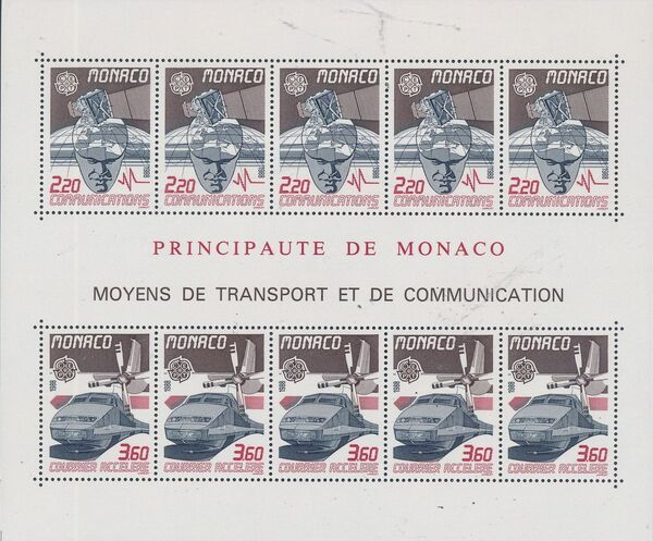 Monaco 1988 EUROPA - Transport and Communications c
