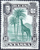 Nyassa Company 1901 D. Carlos I (Giraffe and Camels) c