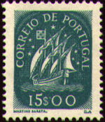 Portugal 1943 Portuguese Caravel (2nd Issue) j