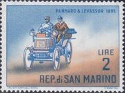 San Marino 1962 Automobiles (pre-1910) b