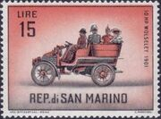 San Marino 1962 Automobiles (pre-1910) g