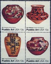 United States of America 1977 American Folk Art Series - Pueblo Pottery e