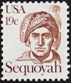 United States of America 1980 Great Americans Issue - Sequoyah a