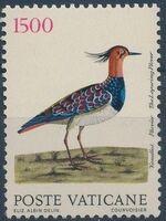 Vatican City 1989 Birds from Eleazar Albin Engravings g