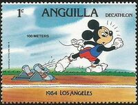 Anguilla 1984 Olympic Games Los Angeles a