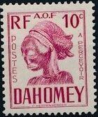 Dahomey 1941 Carved Mask b