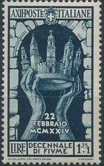 Italy 1934 10th Anniversary of Annexation of Fiume e