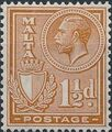 Malta 1926 King George V and Coat of Arms d.jpg