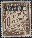 Martinique 1927 Postage Due Stamps of France Overprinted b