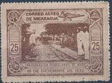 Nicaragua 1932 Inauguration of the Railroad from San Jorge to San Juan del Sur (Airmail) c