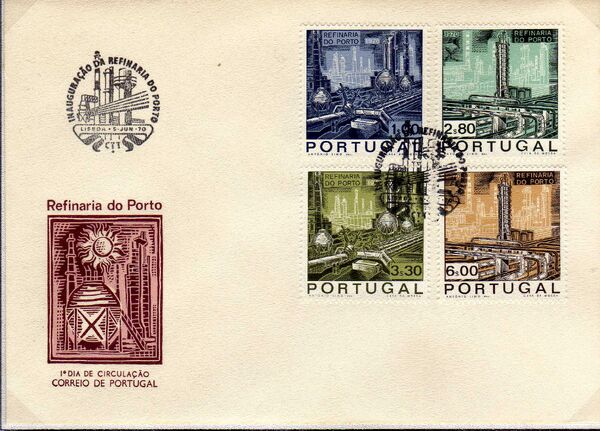 Portugal 1970 Opening of the Oil Refinery in Porto l