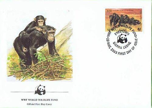 Sierra Leone 1983 WWF - Chimpanzees from Outamba-Kilimi National Park FDCd